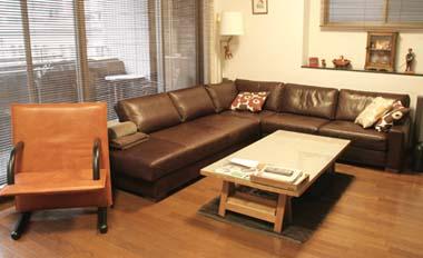 パーソナルチェアの張替え、ソファの革と合わせて/KOKOROISHIソファのお客様の声