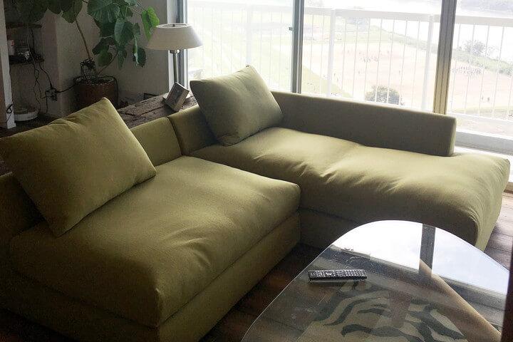 このソファの奥行き、最高!/KOKOROISHIソファのお客様の声