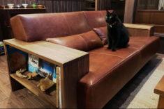 こだわりの空間に一目惚れしたソファを。