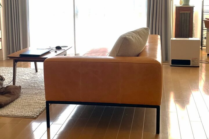 HILL(ヒル)オイルレザーのソファ