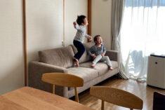 丁度良いサイズの2.5人掛けソファ