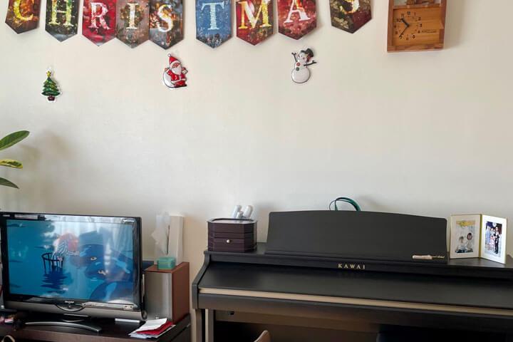 愛着ある家族のピアノ